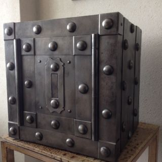 18 Th Century North Italy Wrought Iron Tricky Safe Strong Box Iron Chest photo