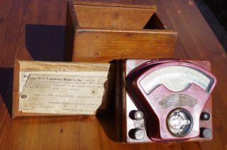 Antique Weston Direct Current Voltmeter Model 1,  No.  10305 photo