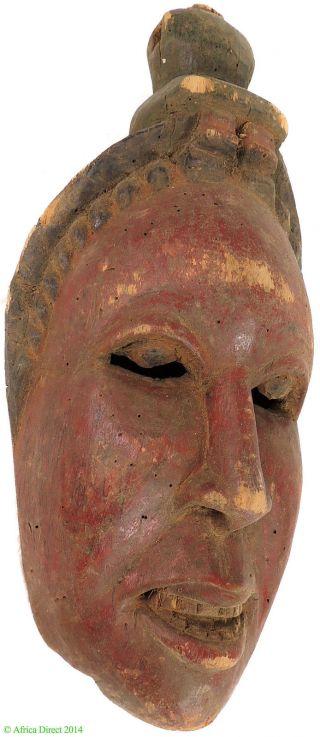 Ibibio Mask Red Narrow Face Nigeria African Art Was $210 photo