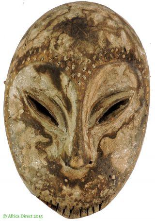 Lega Mask Bwami Society White Face Congo African Art Was $95 photo