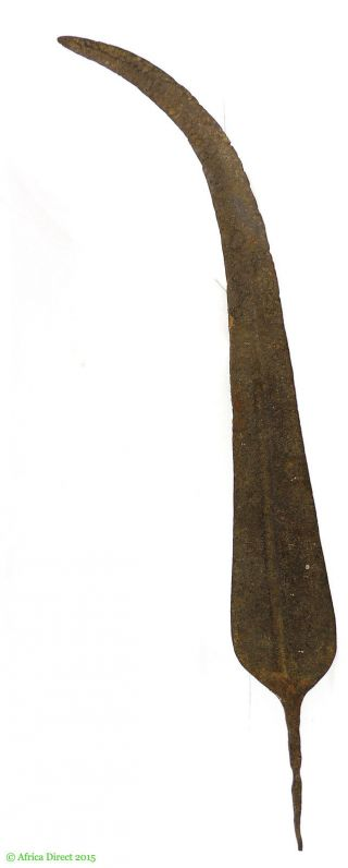 Iron Blade Forged Double Edge Currency Congo African Art Was $99 photo