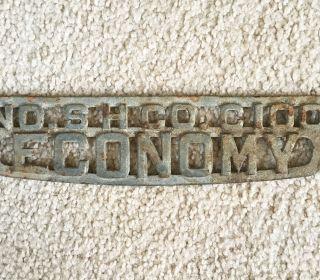 Antique Cast Iron Sh Co. ,  No.  C100 Economy Clothes Wringer Name Plate photo