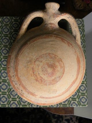 Archaic Greek Terracota Bottle photo