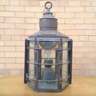 Vintage Nautical Clipper Light Ship Lamp 1255,  Brass Light 1869 - Table Lamp photo