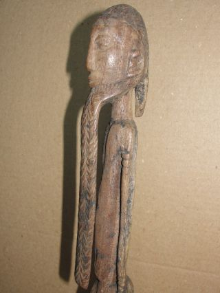 Very Old Ancient African Tribe Long Beard Dogon Mali Statue Africa Figure Antiqu photo