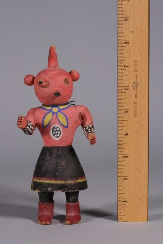 Old Native American Indian Hopi Kachina Doll - Hand Carved/painted - 1940s - 50s photo
