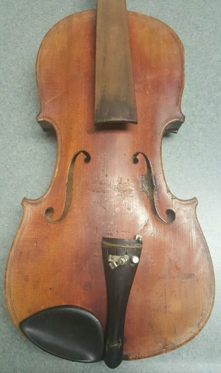 Antique 1800 ' S Heinzel Germany 4/4 Full Violin For Repair Parts Nr photo