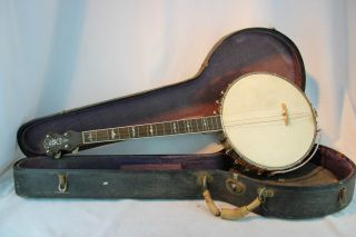 Vintage 1920 ' S Unknown 4 String Tenor Banjo Open Back Project Thick Maple Tone photo