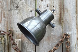 Stylish Machine Age Spotlight In Aged Steel Finish Light Lamp Holder Wall Mount photo
