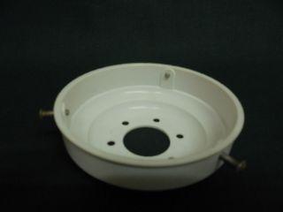 Vintage Cream Plastic Gallery G.  1 Lamp Light Shade Screw Fitting Holder photo