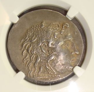 175 - 125 Bc Macedon Alexander Iii,  The Great Ancient Greek Silver Tetradrachm Ngc photo