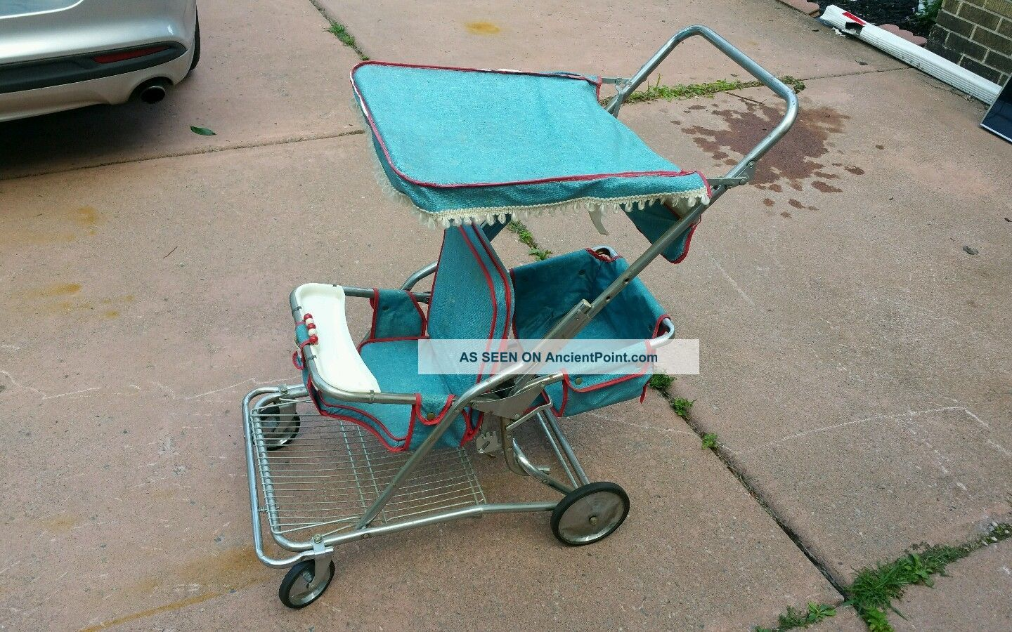 Rare Twin Double 2 Child Strolee / Taylor Tot Vintage Stroller Baby Chrome Euc Baby Carriages & Buggies photo