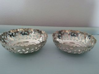 Silver Plated Bowls Edinburgh Bottle Coaster Candle Holders photo
