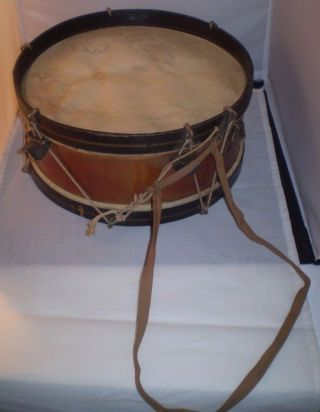 Antique Rope Tension Snare Drum,  1890s To The Turn Of The Century Civil War photo