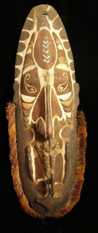 Large Dynamic Guinea Spirit Mask 1950s photo
