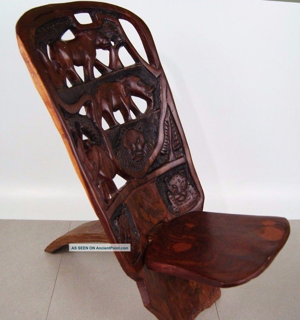 Gorgeous Hand Carved African Birthing Chair - Antique Birthing Chair Value Antique Furniture