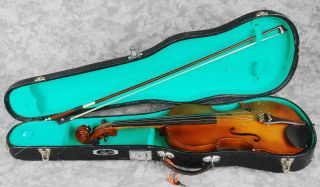 Antique French Violin Full Size 4/4 D Salzard,  Case & Bow As - Is photo