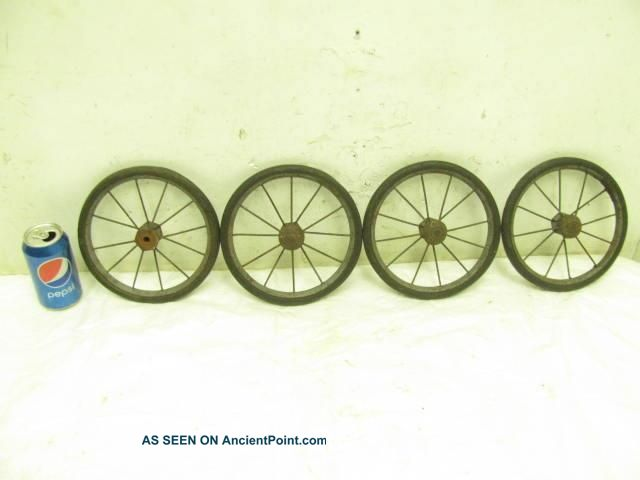 Antique Metal Steel Baby Child ' S Doll Buggy Push Carriage Stroller Wheels Decor Baby Carriages & Buggies photo