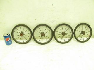 Antique Metal Steel Baby Child ' S Doll Buggy Push Carriage Stroller Wheels Decor photo