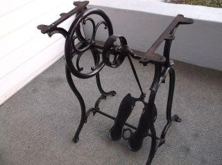 1871 Antique Sewing Machine Base: Wheeler & Wilson photo