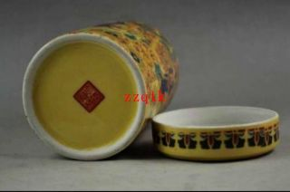 5.  9 Inch /handwork Porcelain Drawing Dowager & Landscape Rare Noble Storage Pot photo