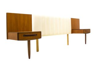 Danish Style Floating Nightstands,  Teak Headboard,  Mid Century Modern Bedroom,  Mcm photo