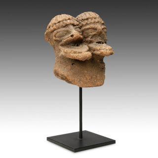 Antique Terra Cotta Funerary Figure Koma People Ghana West Africa C.  1300 - 1700 Ad photo