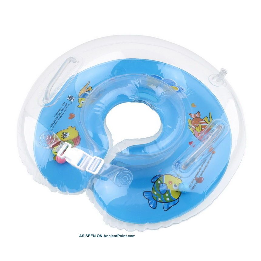 Baby Aids Infant Swimming Neck Float Inflatable Tube Ring Safety Neck Sc Bath Tubs photo