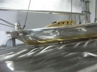 The Sailboat Of Silver960 Of Japan.  200g/ 7.  04oz.  Takehiko ' S Work. photo