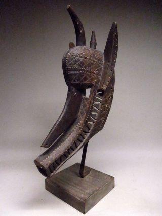 A Rare Bamana Bambara Suruku Hyena Mask Stunning photo