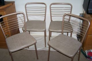4 Vintage Mid Century Hamilton Cosco Fashionfold Folding Chairs photo