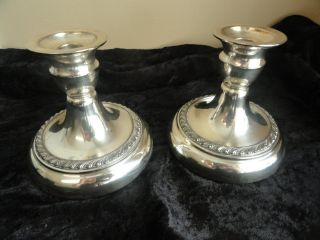Lifetime Brand Silver Plate Candle Holders photo