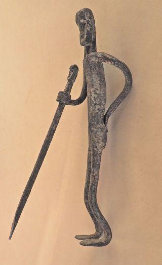 "Vintage Hand Forged Iron Figure/dogon,  Mali/""elder"