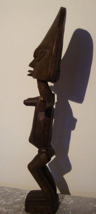 Beautifully Carved Tall Fertility Statue From Ashanti Tribe Ghana Spirit Figure photo