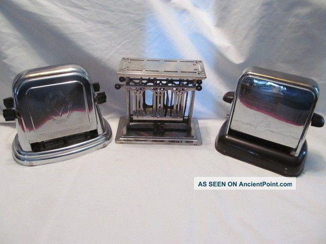 Vintage 3 Side Opening Electric Toasters,  Universal,  Bersted,  Kwik Way Toasters photo
