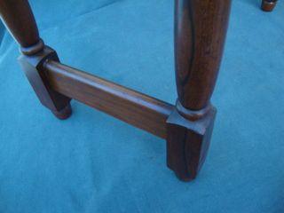 Antique Cherry Wood Library/dictionary Stand Podium Bakelite Castors Legs Unbolt photo