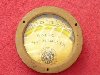 Vintage Brass Binnacle Inclinometer photo