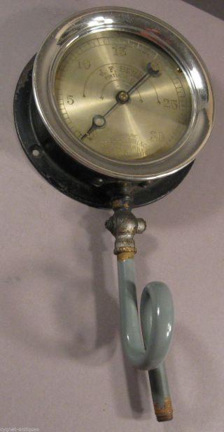 Early 1900s Pressure Gauge,  Brass & Cast Iron,  Marsh Co. ,  J.  F.  Shea,  Steampunk photo