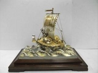 Silver960 The Japanese Huge Treasure Ship.  334g/ 11.  79oz.  Takehiko ' S Work. photo