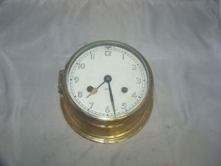 Fulton Ship ' S Bell Clock Vintage Fulton Ship ' S Bell Nautical Clock photo