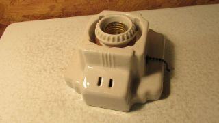 Antique Porcelain Wallmount Light Fixture photo
