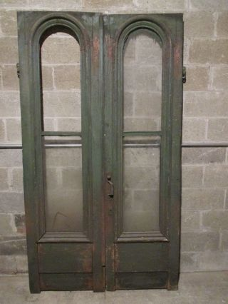 Antique Double Entrance French Doors 48x86 Storefront Great Hardware Salvage photo