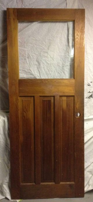 Architectural Salvage 32x80 Craftsman Antique Entry Wood Fir Door Glass Exterior photo