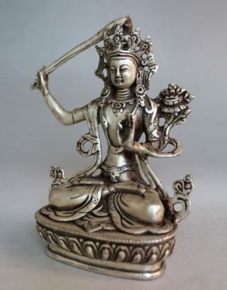 China Of Tibet Silver Dragon Carved Decorative Censer photo
