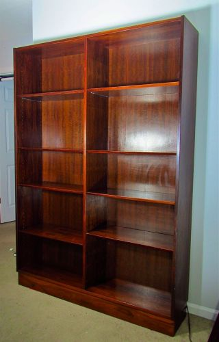 Poul Hundevad Danish Mid Century Modern Rosewood Tall Bookcase Made In Denmark photo