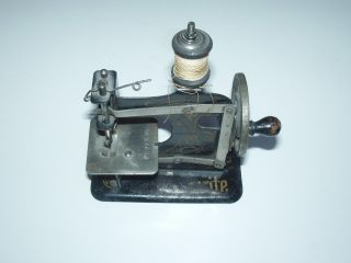 Antique Miniature Sewing Machine Marked Prussia & No.  66630 Partial Maker Name photo
