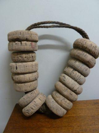 Antique Cork Buoy Nautical Ware photo