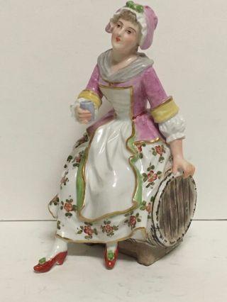 Antique 19th Century German Meissen Porcelain Figurine photo