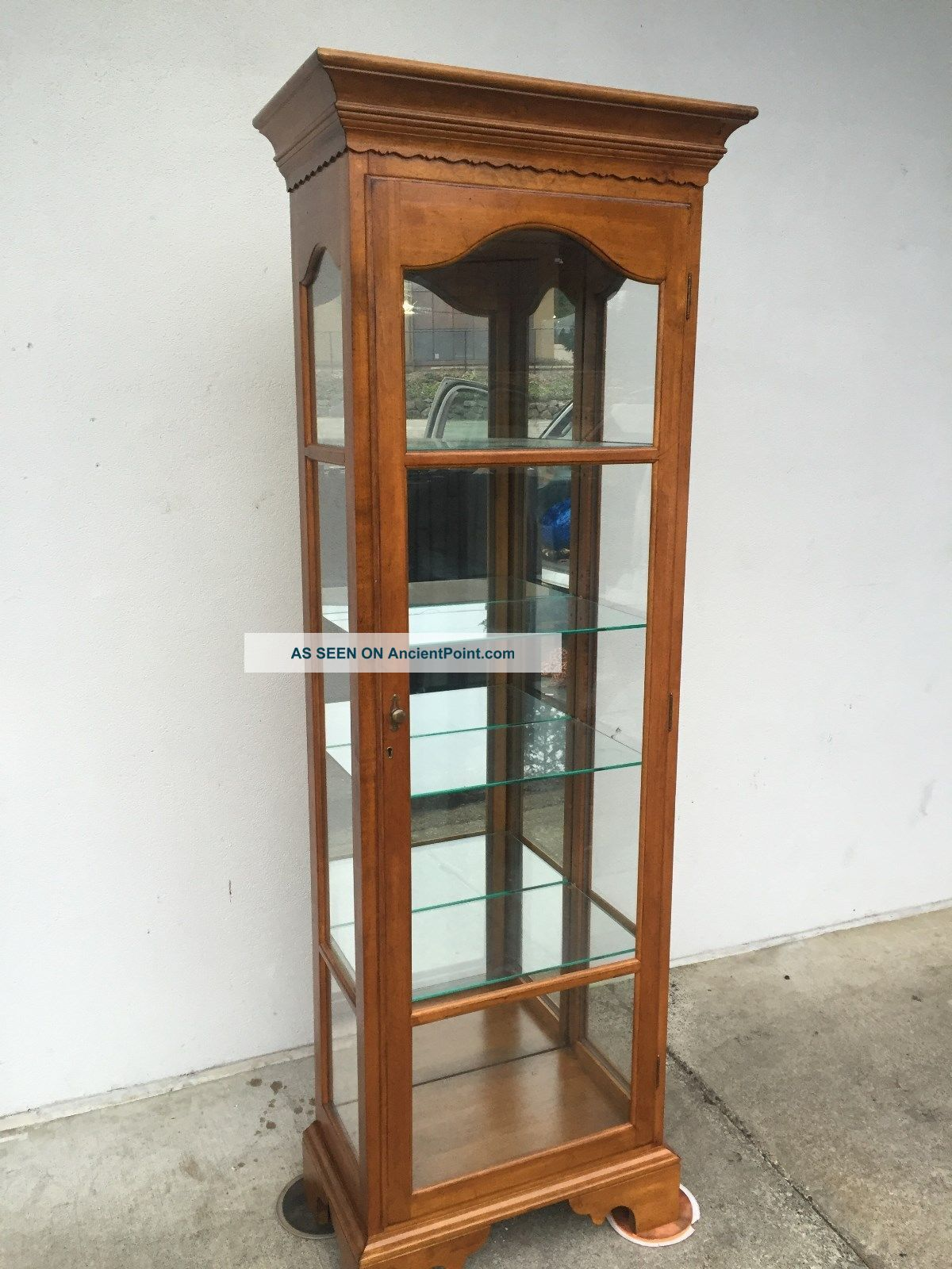 Vintage Ethan Allen Cherry Wood Curio Display Cabinet L@@k Post-1950 photo
