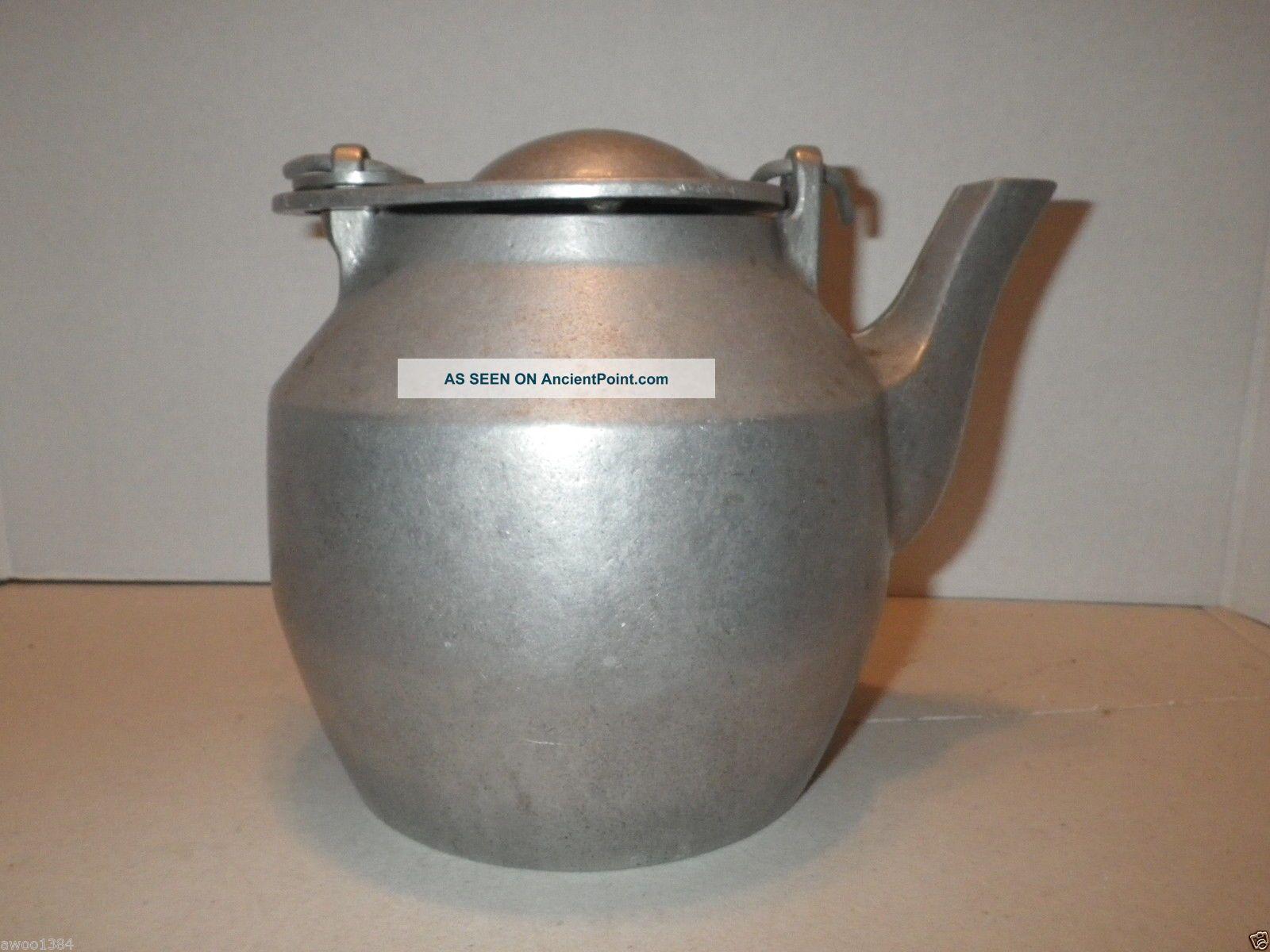 Cast Aluminum Kettle John Wright Teapot Large Stove Humidifier  #614D3F